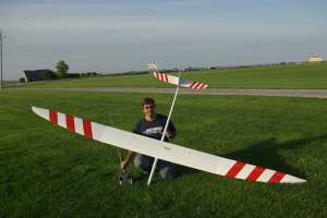 Mike Fox and His Competition Sailplane